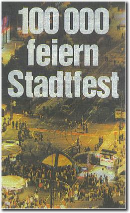 Stadtfest Chemnitz 2005